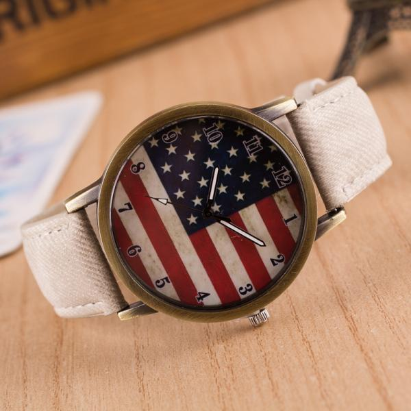 Retro Scrawl Canvas Strap Watch