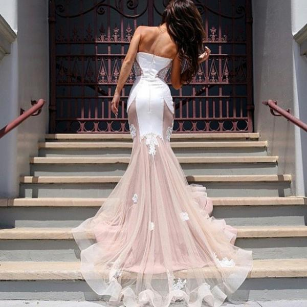 Latest design wedding dress, lace wedding dress, Mermaid Wedding Dresses, Vintage Wedding Gowns, Sweetheart Wedding Dress, Appliques Bridal Dresses, Sheer Bridal Gowns
