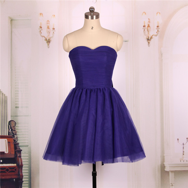 Cheap Ball Gown Sweetheart Tulle Short Regency Purple Prom Dresses Gowns 2016,Formal Evening Dresses Gowns, Homecoming Graduation Cocktail Party Dresses Custom Plus size